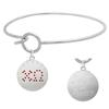 Chi Omega Charm Bangle Bracelet made with Swarovski Crystals