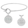 Zeta Tau Alpha Charm Bangle Bracelet made with Swarovski Crystals