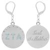 Zeta Tau Alpha Earrings made with Swarovski Crystals