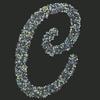 Swarovski Sticker Monogram Letter C, 2 Inch Height
