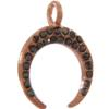 Beadelle® Charm Crescent with Loop 18 mm Rose Gold/Jet Hematite