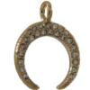Beadelle® Charm Crescent with Loop 18 mm Gold/Crystal