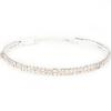 2 Row Stretch Rhinestone Choker Necklace Crystal/Silver