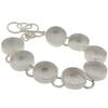 "DW Circle 5/8"" Linked Bracelet in Silver"