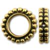 TIERRACAST® Antique Gold 6mm Round Granulated Bead Frame