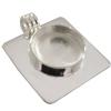 Medium Circle Pendant with Square Back, Silver Overlay