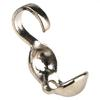 Clam Shell Bead Tip, Silver-Plated, Silver, 4mm