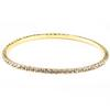 1 Row Bangle Rhinestone Bracelet, Crystal/Gold