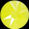 Swarovski 2088 XIRIUS Rose Flat Back Crystal Electric Yellow SS12