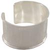 29mm Wide Channel Cuff Bracelet with Silver Overlay