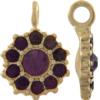 Beadelle® Daisy with Loop Fleurette 12 mm Matte Gold/Amethyst