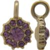 Beadelle® Daisy with Loop Fleurette 8 mm Matte Gold/Light Amethyst