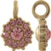 Beadelle® Daisy with Loop Fleurette 8 mm Matte Gold/Light Rose
