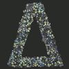 Swarovski Sticker Greek Letter Delta, 25mm Height