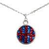 Game Time Bling Basketball Dangle Necklace - Sapphire/Light Siam
