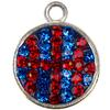 Game Time Bling Dangle - Basketball - Sapphire/Light Siam