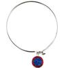 Game Time Bling Circular Dangle Bracelet - Sapphire/Light Siam (Periwinkle/Red)
