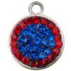 Game Time Bling Circular Dangle - Sapphire/Light Siam (Periwinkle/Red)