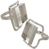 "Deco Ring Around DW Square Bezel 5/8""x4 mm, Silver Overlay Size Approx 6.5"