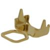 Chain end for PP32 in Gold with double row crimp end