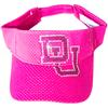 Visor with Custom Rhinestone Transfer - DU