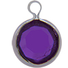 Lucite (Acrylic) Channel Amethyst 8mm