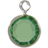 Lucite (Acrylic) Channel Peridot 8mm
