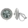 Crystalized with Dreamtime Crystal Clip-On Earrings for Dance Black Diamond/Crystal 17mm