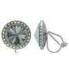 Crystalized with Dreamtime Crystal Clip-On Earrings for Dance Black Diamond/Crystal AB 13mm