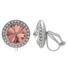Crystalized with Swarovski Clip-On Earrings for Dance Blush Rose/Crystal 15mm