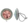 Crystalized with Swarovski Clip-On Earrings for Dance Blush Rose/Crystal AB 17mm