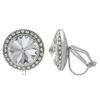 Crystalized with Swarovski Clip-On Earrings for Dance Crystal 19mm