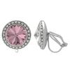 Crystalized with Swarovski Clip-On Earrings for Dance Crystal Antique Pink/Crystal 15mm