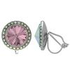 Crystalized with Swarovski Clip-On Earrings for Dance Crystal Antique Pink/Crystal AB 15mm