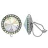 Crystalized with Swarovski Clip-On Earrings for Dance Crystal AB 17mm