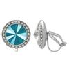 Crystalized with Swarovski Clip-On Earrings for Dance Crystal Azure Blue/Crystal 17mm