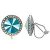 Crystalized with Swarovski Clip-On Earrings for Dance Crystal Azure Blue/Crystal AB 19mm