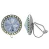 Crystalized with Swarovski Clip-On Earrings for Dance Crystal Blue Shade/Crystal AB 15mm