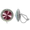 Crystalized with Swarovski Clip-On Earrings for Dance Crystal Dark Red/Crystal AB 17mm