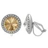 Crystalized with Swarovski Clip-On Earrings for Dance Crystal Golden Shadow/Crystal 13mm