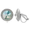 Crystalized with Swarovski Clip-On Earrings for Dance Crystal Laguna DeLite/Crystal 19mm