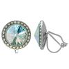 Crystalized with Swarovski Clip-On Earrings for Dance Crystal Laguna DeLite/Crystal AB 19mm