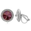 Crystalized with Swarovski Clip-On Earrings for Dance Crystal Lilac Shadow/Crystal 15mm