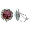 Crystalized with Swarovski Clip-On Earrings for Dance Crystal Lilac Shadow/Crystal AB 15mm