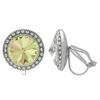 Crystalized with Swarovski Clip-On Earrings for Dance Crystal Luminous Green/Crystal 15mm