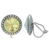 Crystalized with Swarovski Clip-On Earrings for Dance Crystal Luminous Green/Crystal AB 15mm