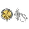 Crystalized with Swarovski Clip-On Earrings for Dance Crystal Metallic Sunshine/Crystal 13mm