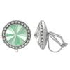 Crystalized with Swarovski Clip-On Earrings for Dance Crystal Mint Green/Crystal 15mm