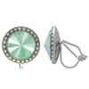 Crystalized with Swarovski Clip-On Earrings for Dance Crystal Mint Green/Crystal AB 15mm