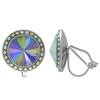 Crystalized with Swarovski Clip-On Earrings for Dance Crystal Paradise Shine/Crystal AB 15mm